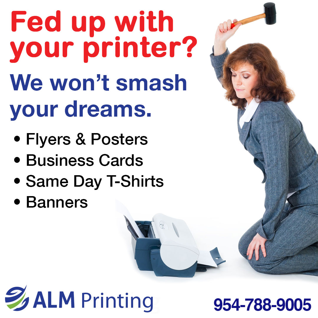 flyers & posters; business cards; same day shirts; banners