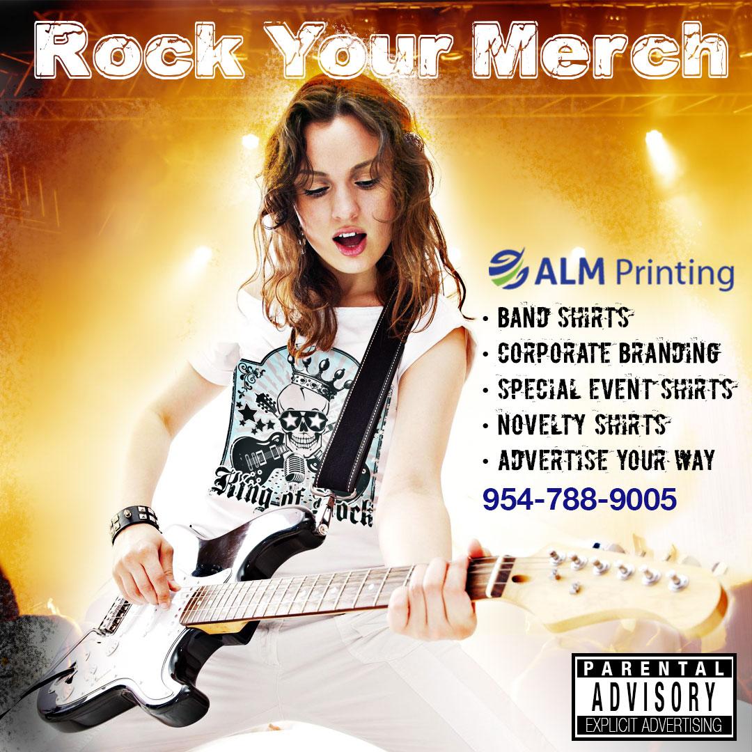 band shirts; DTG printing; same day shirts; posters